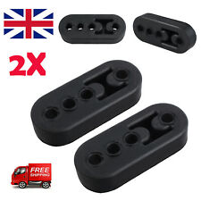 2X Universal Car Exhaust Pipe Mount Heavy Duty Brackets Hangers Rubber Black UK
