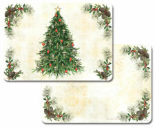 4 Reversible Country Vintage Christmas Tree Holiday Place Mtacremats CouneterArt