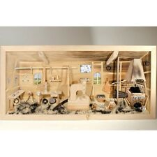 German 3D Wooden Shadow Box Picture Diorama Blacksmith Farrier Workshop