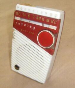Rare Variant TOSHIBA RADIO  1958 - model 6TP-219 Shirt pocket transistor Radio