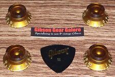 Gibson Les Paul Knobs Amber Top Hat Set Relic Guitar Parts SG Custom Firebird X