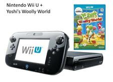 Nintendo Wii U - 32GB Black Console + Yoshi's Woolly World - PRISTINE CONDITION