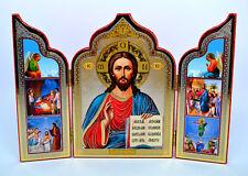 Ikone Jesus Christus икона Иисус Христос с житием  освящена 26x18x0,8 cm