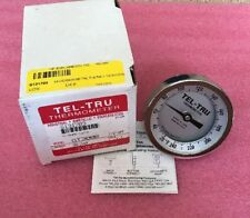 """TEL-TRU THERMOMETER GT300R 20-240 DEGREES 2.5 STEM 1/2"""" NPT"""