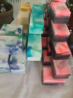 LOT-OF-101-BARS-OF-HOMEMADE WITH GOATS-MILK-SHEA-OLIVE-OIL-SOAP-U-PICK SCENT