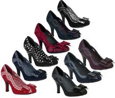 Ruby Shoo Ivy Black Spots Womens Hi HEELS Shoes 7 UK 40 EU 9 US