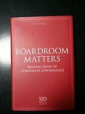 Boardroom Matters I