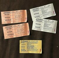 """Vintage Disneyland Ticket Coupons """"1 D coupon, 2 C's and 2 B's"""". ~1977"""
