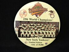 """NY YANKEES 1996 WORLD SERIES CHAMPIONSHIP 6"""" LIMITED EDITION BUTTON/PIN"""
