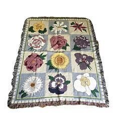 Floral Gardener's Tapestry Throw Blanket Home Decor 41� X 53� Flowers Tapestry