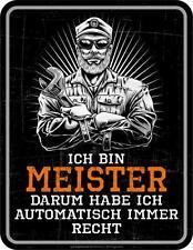 Tin sign 6 11/16x8 11/16in, I am Master, Advertising sign FRAMELESS Art. 3792