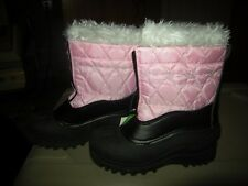 Brand  New Girls Black & Pink Itasca Snowflake Snow Boots, Size 5