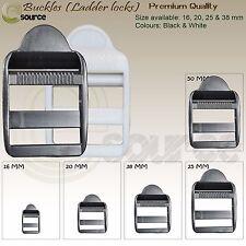 LADDER LOCKS BUCKLES PLASTIC FOR 16 20 25 & 38 MM STRAPS WEBBING ADJUSTER BUCKLE