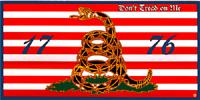 "Gadsden Culpeper Navy Jack 1776 Decal Vinyl Bumper Sticker (3.75""x7.5"")"