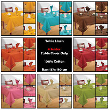 Solid Pattern 100% Cotton Tablecloths