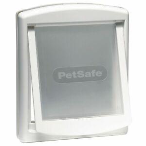 SALE £47.50 NEW BOXED PETSAFE STAYWELL DOG FLAP LOCKING WHITE DOG DOOR SZ. LARGE