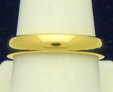 DURA TUNGSTEN DOMED BAND GOLD IMMERSED PLATING 4.30mm WEDDING BAND RING SIZE 9