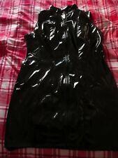 The Federation black pvc dress  Size 18UK TV CD