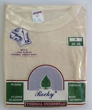 Rocky Thermal Underwear Long Sleeve Shirt Waffle Men's Medium 38-40 NOS Vintage