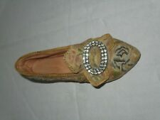 "Just The Right Shoe Afternoon Tee Glass Shoe High Heel Used 4"" Long Collectible"