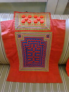 Vintage Hmong Hill Tribes baby carrier Quilt Applique Textile Wall Art Cushion I