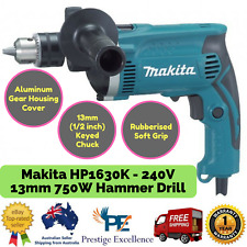 New Makita HP1630K - 240V 13mm 750W Hammer Drill with Keyed Chuck for Wood,Steel