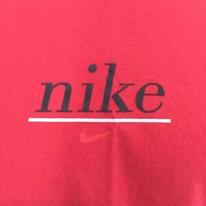 True Vintage Sz L Tshirt NIKE Center Swoosh White Label USA Made