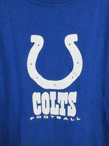 NFL Indianapolis Colts Mens T Shirt SizeL NFL Team Apparel Crew Neck Adult Blue
