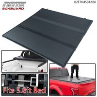 For Chevy Silverado Sierra 2007-2013 Hard TriFold Tonneau Cover 5.8ft Short Bed