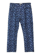 NEW Isabel Marant Etoile embroidered floral skinny fit blue jeans