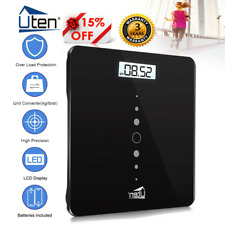 200KG GLASS BATHROOM SCALES ELECTRONIC DIGITAL WEIGHING BODY SCALE WEIGHT LOSS