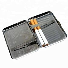 Stainless Steel Silver Cigarette Case Tobacco Pocket Pouch Holder Box Cigar