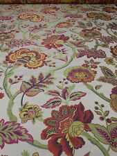 8Y new upholstery JACQUARD fabric Jacobean Floral pattern bright colors