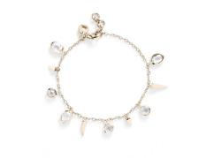 Melinda Maria  Women's Gold And Moonstone Gianna Fringe Bracelet 0322