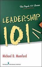 Leadership 101 by Michael D. Mumford (2009, Paperback)