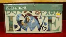 "Adhesive Reflections - Mirror Love Frame (12"" x 6"")"