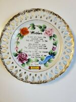 """Vtg.Collector Plate 'Mother' 8"""" Souvenir of Nashville,  Tennessee Wall Hanging"""