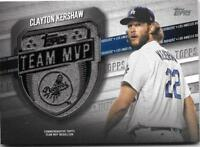 Clayton Kershaw 2018 Topps Series 2 TEAM MVP Medallion Relic Dodgers