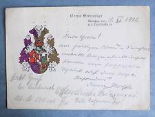 Studentika 1926 Corps Brunsviga München Couleurkarte KSCV Rhenania-Brunsviga