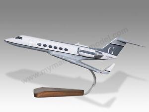 Gulfstream G-IV 50 Fifty Shades of Grey Freed Solid Mahogany Wood Desktop Model