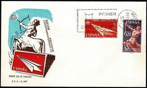 Sobre Primer Dia de España 1956 Alegorias Edifil 1185/1186 First day ref.02