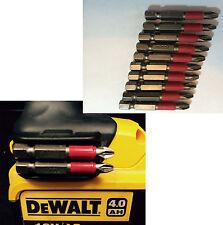 Dewalt Magnetic Bit Holder + Screw + 10 x pz2 50mm bits drills Impact Drivers
