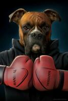 Knock Out Boxer Dog Poster 24x36