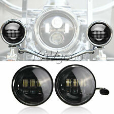 "2x 4-1/2"" LED Auxiliary Fog Passing Lights Fits Harley Street Glide FLHX Touring"