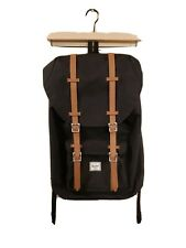 """HERSCHEL SUPPLY CO. """"Little America Laptop Backpack, Black/Tan Synthetic Leather"""