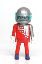 Playmobil Figure Winter Sports Olympic Bobsledder Helmet Red Suit RARE 3807