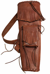 Handmade Leather Arrow Quiver High Quality Back Pack Native American Movie Prop