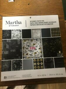 NEW MARTHA STEWART HALLOWEEN 12 x 12 SCRAPBOOK  Paper Pad 48 SHEETS CARDSTOCK B