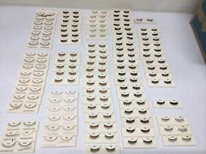93 Pairs of Doll EYELASHES - Many Sizes And Colors
