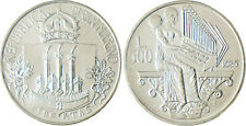 SAN  MARINO   SAINT  MARIN   500  LIRE  ARGENT  1985   BACH   FLEUR  DE  COIN